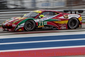 Davide Rigon (ITA) / James Calado (GBR) drivers of car #71 LMGTE PRO AF Corse (ITA) Ferrari F458 Italia Free Practice #3 - FIA WEC 6 hours race of the 6 hours of the Circuit of the Americas - Austin - Texas - USA