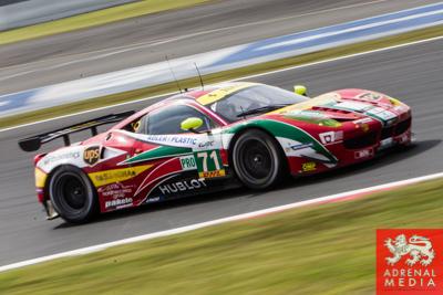 Davide Rigon (ITA) / James Calado (GBR) / drivers of car #71 LMGTE PRO AF Corse (ITA) Ferrari F458 Italia   Free Practice 1 at Fuji Speedway - Shizuoka Prefecture - Japan