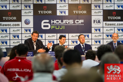 Press Conference held by Gerard Neveu CEO at Fuji Speedway - Shizuoka Prefecture - Japan