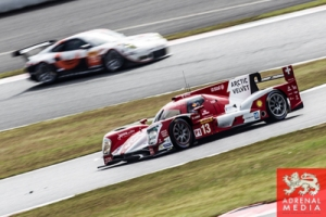 Dominik Kraihamer (AUT) / Andrea Belicchi (ITA) / Fabio Leimer (CHE) / drivers of car #13 LMP1 Rebellion Racing (CHE) Rebellion Toyota R-One  Practice 3 at Fuji Speedway - Shizuoka Prefecture - Japan