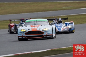 Alex MacDowall (GBR) / Darryl O'Young (CAN) / Fernando Rees (BRA) / drivers of car #99 LMGTE PRO Aston Martin Racing (GBR) Aston Martin Vantage V8 Practice 3 at Fuji Speedway - Shizuoka Prefecture - Japan
