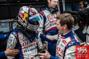Anthony Davidson (GBR) / Nicolas Lapierre (FRA) / Sebastien Buemi (CHE) / drivers of car #8 LMP1 Toyota Racing (JPN) Toyota TS 040 - Hybrid win pol position for the Qualifying LMP1 at Fuji Speedway - Shizuoka Prefecture - Japan