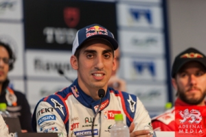 Qualifying Press Conference Sebastien Buemi (CHE) / driver of car #8 LMP1 Toyota Racing (JPN) Toyota TS 040 - Hybrid puts his car on pole  Fuji Speedway - Shizuoka Prefecture - Japan