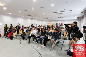 Media at the Qualifying press Conference Fuji Speedway - Shizuoka Prefecture - Japan