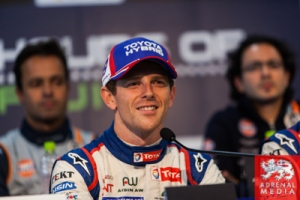 Qualifying Press Conference Anthony Davidson (GBR) driver of car #8 LMP1 Toyota Racing (JPN) Toyota TS 040 - Hybrid  Hybrid puts his car on pole  Fuji Speedway - Shizuoka Prefecture - Japan