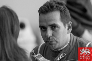 Benoit Treluyer Media Interviews with drivers at Fuji Speedway - Shizuoka Prefecture - Japan
