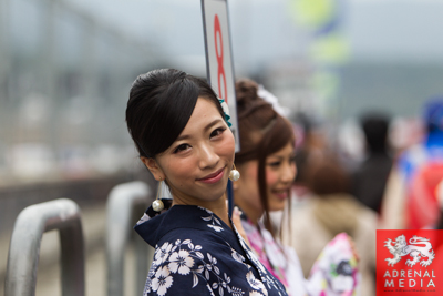 Geisha Girls Pit walk and Autograph for the fans at Fuji Speedway - Shizuoka Prefecture - Japan