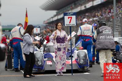 Alexander Wurz (AUT) / Stephane Sarrazin (FRA) / Kazuki Nakajima (JPN) / drivers of car #7 LMP1 Toyota Racing (JPN) Toyota TS 040 - Hybrid Grid Walk at Fuji Speedway - Shizuoka Prefecture - Japan