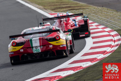 Davide Rigon (ITA) / James Calado (GBR) / drivers of car #71 LMGTE PRO AF Corse (ITA) Ferrari F458 Italia at Fuji Speedway - Shizuoka Prefecture - Japan