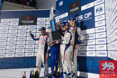 Winners Trophy presented to Anthony Davidson (GBR) / Nicolas Lapierre (FRA) / Sebastien Buemi (CHE) / drivers of car #8 LMP1 Toyota Racing (JPN) Toyota TS 040 - Hybrid at Fuji Speedway - Shizuoka Prefecture - Japan