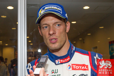 Alex Wurz Toyota is interviewed after the race after coming 2nd overall  Fuji Speedway - Shizuoka Prefecture - Japan