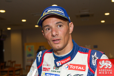 Stephane Sarrazin Toyota is interviewed after the race after coming 2nd overall  Fuji Speedway - Shizuoka Prefecture - Japan