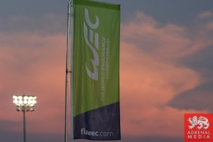 WEC Flag Sunset - 6 Hours of Bahrain at Bahrain International Circuit (BIC) - Sakhir - Kingdom of Bahrain