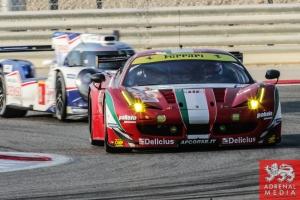 Gianluca Roda (ITA) / Paolo Ruberti (ITA) / Matteo Cressoni (ITA) / Car #90 LMGTE AM 8 Star Motorsports (USA) Ferrari F458 Italia - 6 Hours of Bahrain at Bahrain International Circuit (BIC) - Sakhir - Kingdom of Bahrain