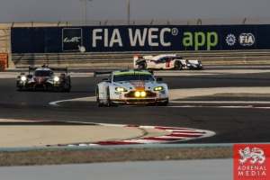 FIA WEC Banner Darren Turner (FRA) / Stefan Mucke (DEU) / Car #97 LMGTE PRO Aston Martin Racing (GBR) Aston Martin Vantage V8 - 6 Hours of Bahrain at Bahrain International Circuit (BIC) - Sakhir - Kingdom of Bahrain