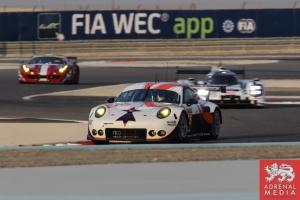 fiA WEC Banner Francois Perrodo (FRA) / Emmanuel Collard (FRA) / Matthieu Vaxiviere (FRA) / Car #75 LMGTE AM Prospeed Competition (BEL) Porsche 911 GT3 RSR - 6 Hours of Bahrain at Bahrain International Circuit (BIC) - Sakhir - Kingdom of Bahrain