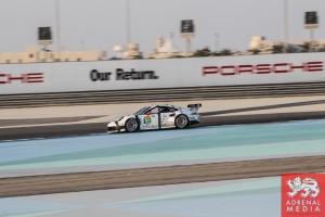 Porsche Banner Richard Lietz (AUT) / Jorg Bergmeister (DEU) / Nick Tandy (GBR) / Car #91 LMGTE PRO Porsche Team Manthey (DEU) Porsche 911 RSR - 6 Hours of Bahrain at Bahrain International Circuit (BIC) - Sakhir - Kingdom of Bahrain