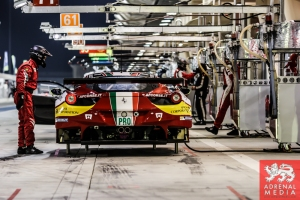 Alexander Talkanitsa (BLR) / Alessandro Pier Guidi (ITA) / Jeffrey Segal (USA) / Car #61 LMGTE AM AF Corse (ITA) Ferrari F458 Italia - 6 Hours of Bahrain at Bahrain International Circuit (BIC) - Sakhir - Kingdom of Bahrain
