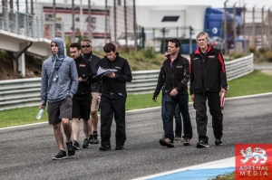 Track Walk by the teams at Circuito Estoril - Cascais - Portugal