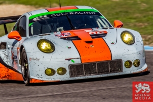 Michael Wainwright (GBR) / Adam Carroll (GBR) / Ben Barker (GBR) drivers of car #86 GULF RACING UK  (GBR) Porsche 911 RSR Race at Circuito Estoril - Cascais - Portugal