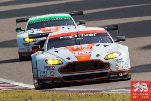Kristian Poulsen (DNK) / David Heinemeier Hansson (DNK) / Richie Stanaway (NZL) / Car #95 LMGTE AM Aston Martin Racing (GBR) Aston Martin Vantage V8 and Paul Dalla Lana (CAN) / Pedro Lamy (PRT) / Christoffer Nygaard (DNK) / Car #98 LMGTE AM Aston Martin R