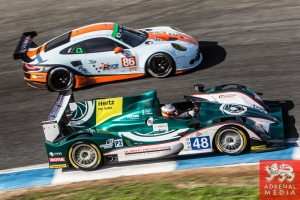 Pipo Derani (BRA) / James Littlejohn (GBR) / Anthony Wells (GBR) drivers of car #48 MURPHY PROTOTYPES  (IRL) Oreca 03R - Nissan Race at Circuito Estoril - Cascais - Portugal