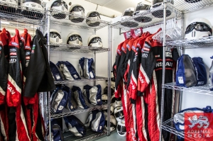 Mechanics race suits and helmets at Circuito Estoril - Cascais - Portugal