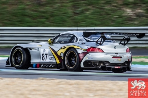 Bas Leinders (BEL) / Markus Paltalla (FIN) / Henry Hassid (FRA) drivers of car #87 BMW SPORT TROPHY MARC VDS  (BEL) BMW Z4 GT3 Free Practice 1 at Circuito Estoril - Cascais - Portugal