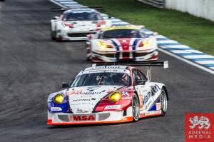 Raymond Narac (FRA) / Nicolas Armindo (FRA) / Christina Nielsen (DNK) drivers of car #76 IMSA PERFORMANCE MATMUT  (FRA) Porsche 911 GT3 RSR Free Practice 1 at Circuito Estoril - Cascais - Portugal