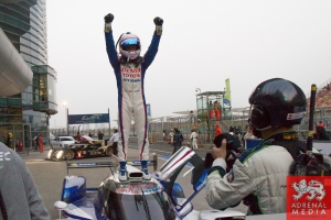 Anthony Davidson (GBR) / Sebastien Buemi (CHE) / Car #8 LMP1 Toyota Racing (JPN) Toyota TS 040 - Hybrid  win the Race - 6 Hours of Shanghai at Shanghai International Circuit - Shanghai - China