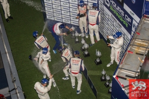 LMP1 podium celebration Race - 6 Hours of Shanghai at Shanghai International Circuit - Shanghai - China