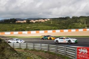 Roald Goethe (DEU) / Stuart Hall (GBR) / Daniel Brown (GBR) drivers of car #85 GULF RACING UK  (GBR) Aston Martin Vantage V8 Free Practice 1 at Circuito Estoril - Cascais - Portugal