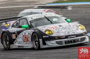 Erik Maris (FRA) / Jean-Marc Merlin (FRA) / Eric Helary (FRA) drivers of car #67 IMSA PERFORMANCE MATMUT  (FRA) Porsche 911 GT3 RSR Free Practice 2 at Circuito Estoril - Cascais - Portugal