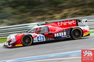 Pierre Thiriet (FRA) / Ludovic Badey (FRA) / Tristan Gommendy (FRA) drivers of car #46 THIRIET BY TDS RACING  (FRA) Ligier JS P2 - Nissan Free Practice 2 at Circuito Estoril - Cascais - Portugal