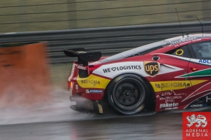 Davide Rigon (ITA) / James Calado (GBR) / drivers of car #71 LMGTE PRO AF Corse (ITA) Ferrari F458 Italia Free Practice 2 - 6 Hours of Shanghai at Shanghai International Circuit - Shanghai - China