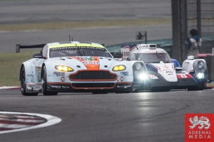 Darren Turner (FRA) / Stefan Mucke (DEU) / drivers of car #97 LMGTE PRO Aston Martin Racing (GBR) Aston Martin Vantage V8 Free Practice 3 - 6 Hours of Shanghai at Shanghai International Circuit - Shanghai - China