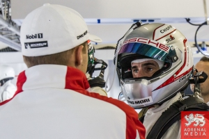 Romain Dumas (FRA) Porsche garage Qualifying - LMP1 & LMP2 - 6 Hours of Shanghai at Shanghai International Circuit - Shanghai - China
