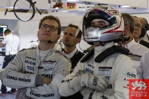 Romain Dumas (FRA) Porsche garage Qualifying - LMP1 & LMP2 - 6 Hours of Shanghai at Shanghai International Circuit - Shanghai - China