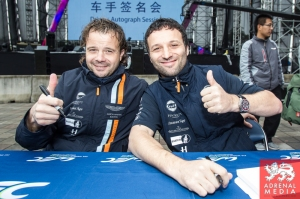 Kristian Poulsen (DNK) / David Heinemeier Hansson (DNK) / Richie Stanaway (NZL) / Car #95 LMGTE AM Aston Martin Racing (GBR) Aston Martin Vantage V8 Autograph Session - 6 Hours of Shanghai at Shanghai International Circuit - Shanghai - China