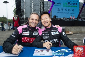 David Cheng (USA) / Ho-Pin Tung (NLD) / Mark Patterson (USA) / Car #35 LMP2 OAK RACING (FRA) Morgan - Judd Autograph Session - 6 Hours of Shanghai at Shanghai International Circuit - Shanghai - China