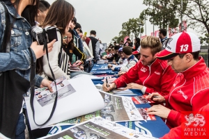 Dominik Kraihamer (AUT) and Nicolas Prost (FRA) Autograph Session - 6 Hours of Shanghai at Shanghai International Circuit - Shanghai - China