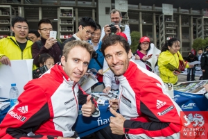Timo Bernhard (DEU) and Mark Webber (AUS) Autograph Session - 6 Hours of Shanghai at Shanghai International Circuit - Shanghai - China