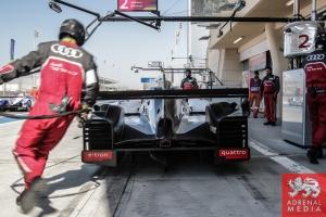 Marcel Fassler (CHE) / Andre Lotterer (DEU) / Benoit Treluyer (FRA) / Car #2 LMP1 Audi Sport Team Joest (DEU) Audi R18 e-tron quattro - 6 Hours of Bahrain at Bahrain International Circuit (BIC) - Sakhir - Kingdom of Bahrain