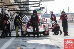 Nicolas Prost (FRA) / Nick Heidfeld (DEU) / Mathias Beche (CHE) / Car #12 LMP1 Rebellion Racing (CHE) Rebellion Toyota R-One - 6 Hours of Bahrain at Bahrain International Circuit (BIC) - Sakhir - Kingdom of Bahrain