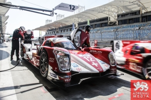 Nicolas Prost (FRA) / Nick Heidfeld (DEU) / Mathias Beche (CHE) / Car #12 LMP1 Rebellion Racing (CHE) Rebellion Toyota R-One - 6 Hours of Bahrain at Bahrain International Circuit (BIC) - Sakhir - Kingdom of Bahrain