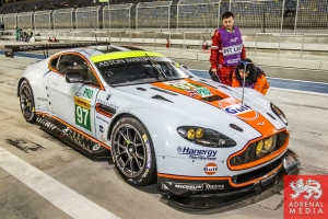 Darren Turner (GBR) / Stefan Mucke (DEU) / Car #97 LMGTE PRO Aston Martin Racing (GBR) Aston Martin Vantage V8 - 6 Hours of Bahrain at Bahrain International Circuit (BIC) - Sakhir - Kingdom of Bahrain