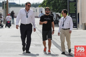 Fernando Alonso meets Gerard Neveu and Pierre Fillon Bahrain - 6 Hours of Bahrain at Bahrain International Circuit (BIC) - Sakhir - Kingdom of Bahrain