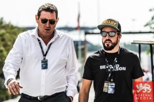 Fernando Alonso visiting Bahrain