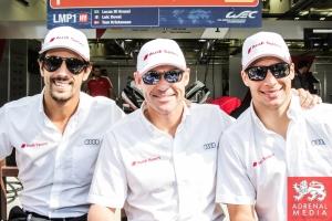 Lucas Di Grassi (BRA) / Loic Duval (FRA) / Tom Kristensen (DNK) / Car #1 LMP1 Audi Sport Team Joest (DEU) Audi R18 e-tron quattro - 6 Hours of Bahrain at Bahrain International Circuit (BIC) - Sakhir - Kingdom of Bahrain