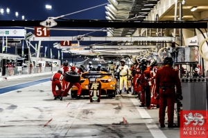 Stephen Wyatt (AUS) / Michele Rugolo (ITA) / Andrea Bertolini (ITA) / Car #81 LMGTE AM AF Corse (ITA) Ferrari F458 Italia - 6 Hours of Bahrain at Bahrain International Circuit (BIC) - Sakhir - Kingdom of Bahrain